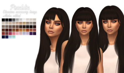 My Sims 4 Blog: Accessory Bangs Edit by Pixelslie | sims 4
