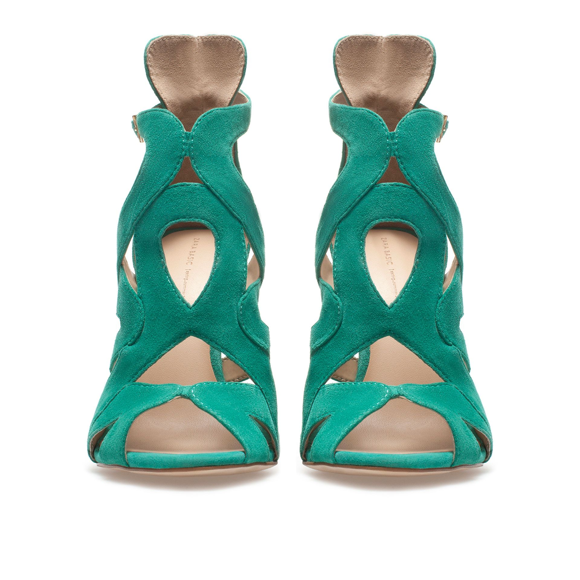 SANDALE À TALON ET LANIÈRES - Chaussures - Femme | ZARA France. Dépression et Shopping:-)