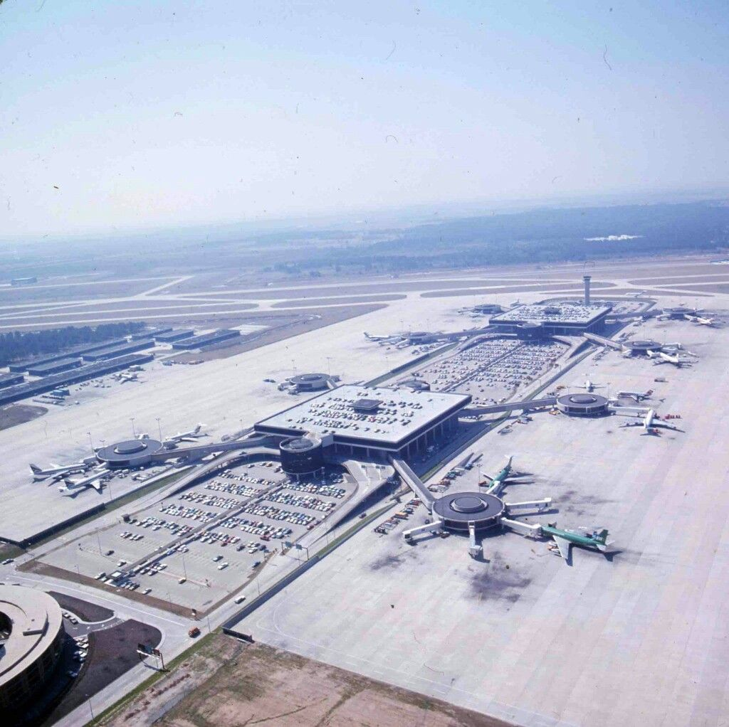 An Aerial Shot Of Houston Intercontinental Airport
