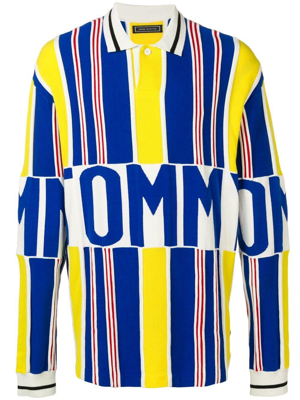 Details about Vintage 90's Tommy Hilfiger Polo Colorblock Vertical Stripe Shirt Mens L Crest