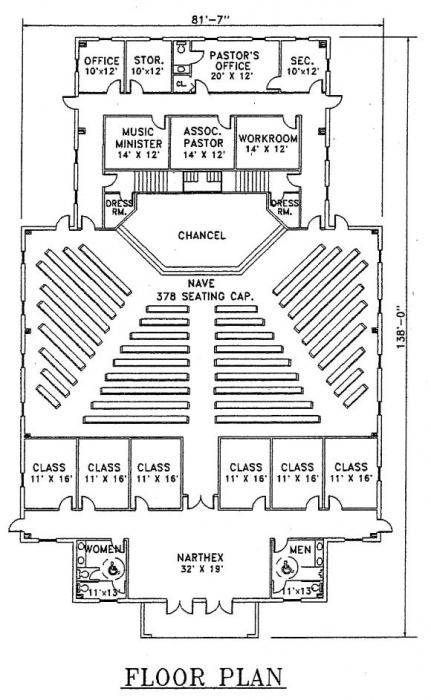 Church Plan 113 Church Design Church Building Plans Church Building Design