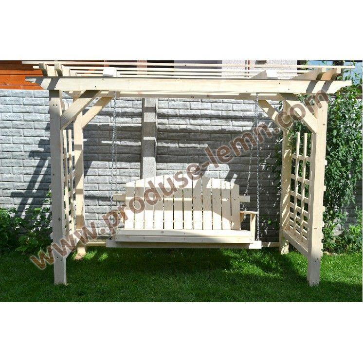 Balansoar Din Lemn Pentru Gradina Model 1 Outdoor Decor Porch Swing Decor