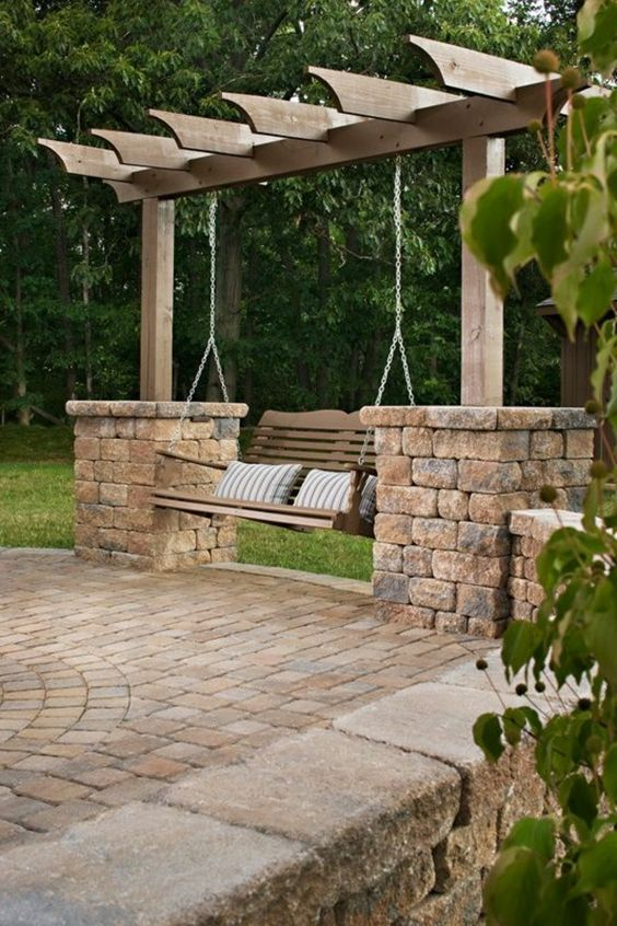 Perfekt Gartenschaukel   Unterschiedliche Modelle, Die Den Garten Schöner Machen.  Der Garten Ist Der Perfekte Platz, Wo Man Sich An Warmen Tagen Entspannen  Kann.