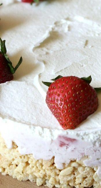 Rice Krispie Treat Ice Cream Pie | Recipe | Dessert cake ...
