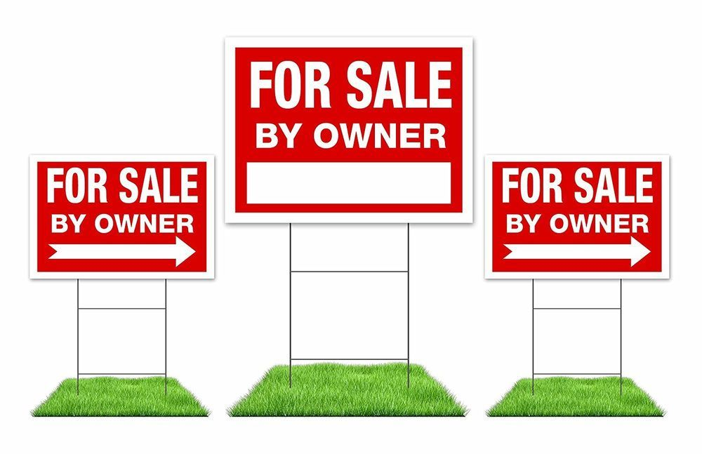 Details About For Sale By Owner Sign Kit 3 Double Sided Red