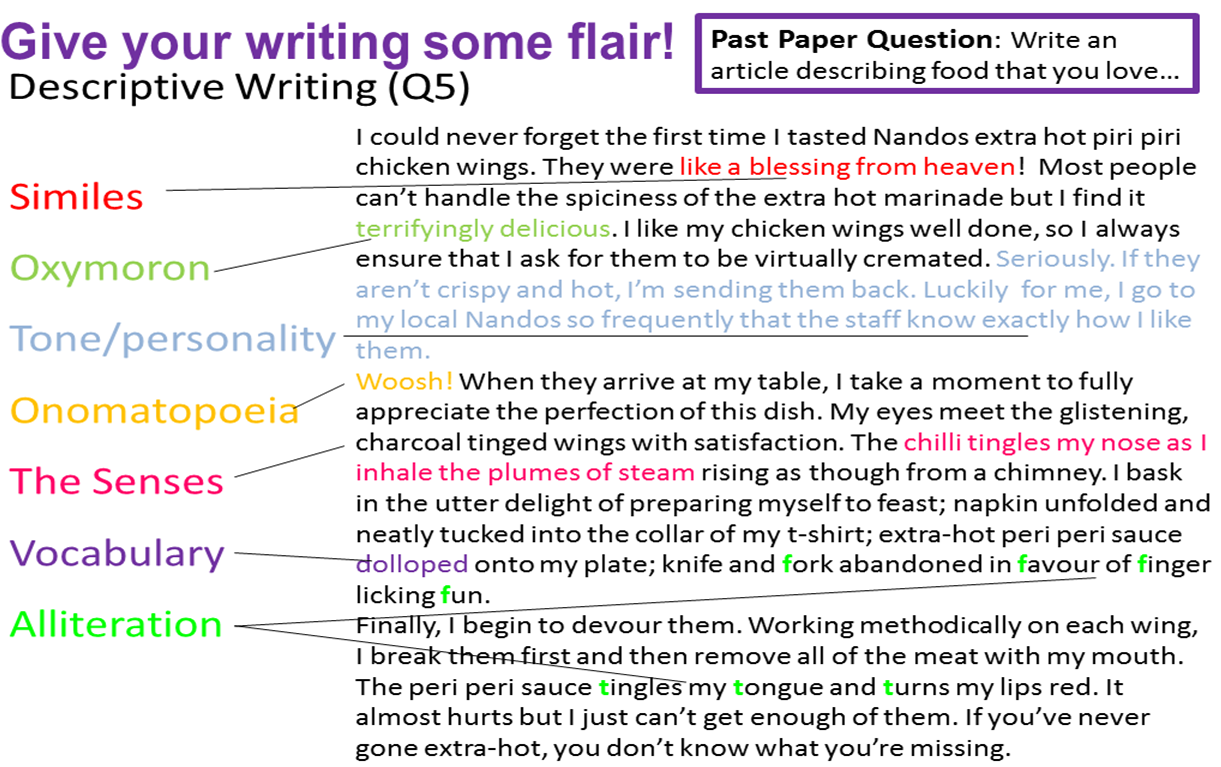 essay techniques language