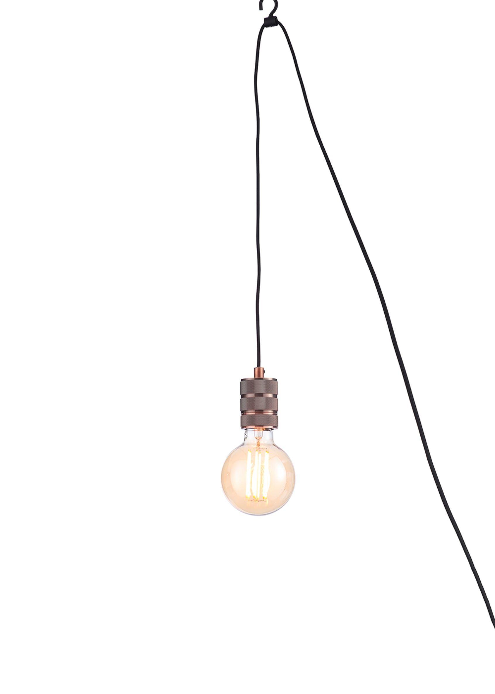 Hanging Pendant Lamp Holder H48 100cm X W6cm Metallic In 2020 Hanging Pendants Pendant Lamp Hanging Pendant Lamp