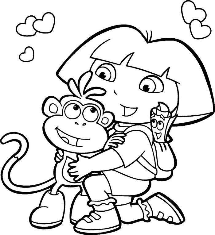 Dora And Friends Embraced Coloring For Kids Wenn Du Mal Buch Malbuch Vorlagen Malvorlagen Fur Kinder