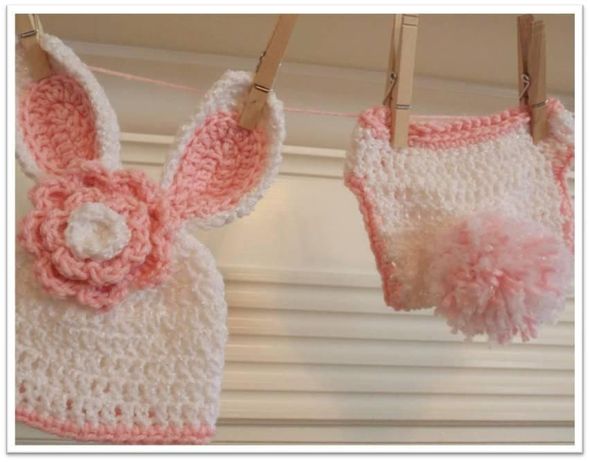 Baby Bunny Hat And Diaper Cover Pattern On Craftsy Future