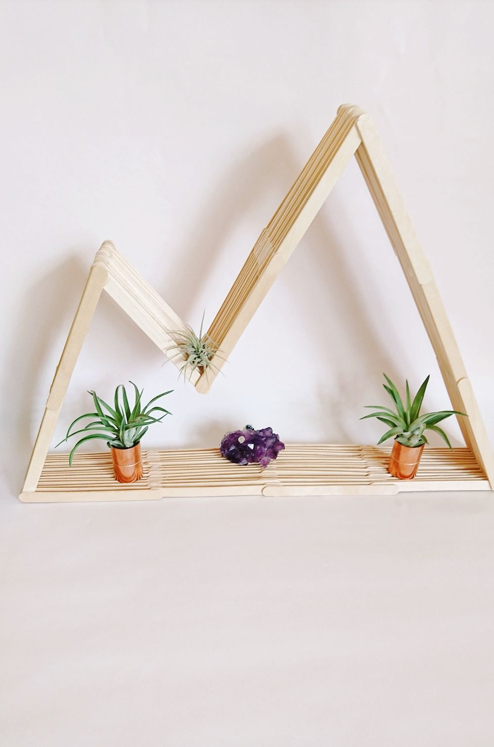 DIY Berg Regal aus Eisstäbchen | Julia to the Fullest -   22 diy Shelves popsicle sticks ideas