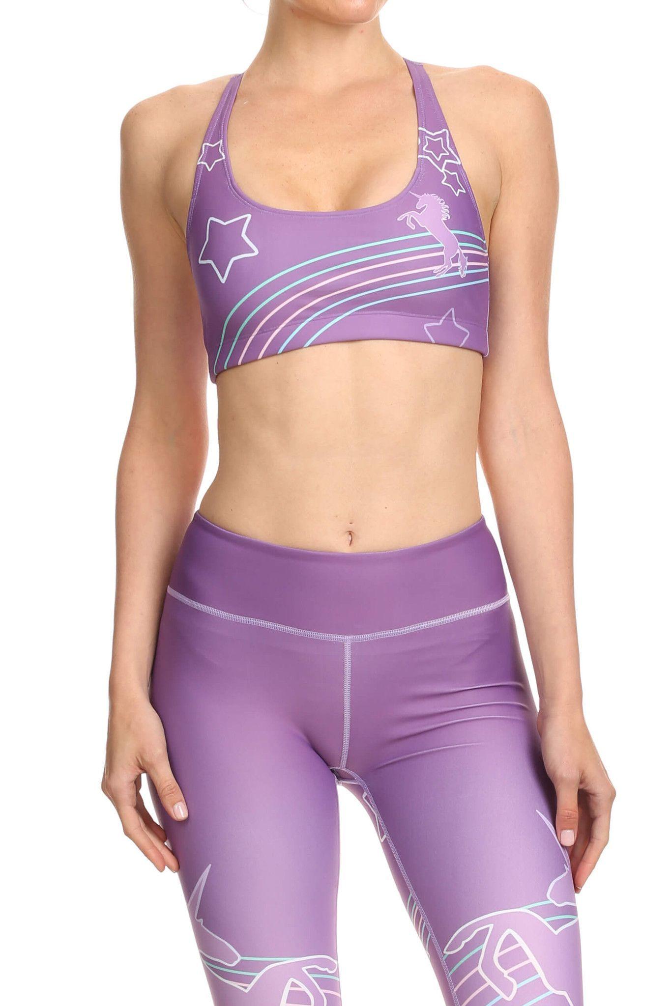 Purple Unicorn Aurora Bra | POPRAGEOUS