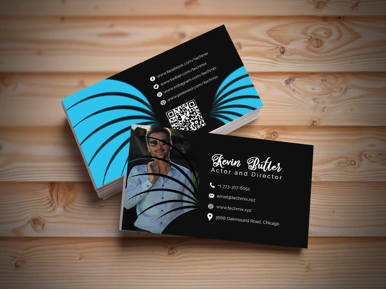 Actor Director Business Card Design Business Card Design Business Cards Collection Card Design