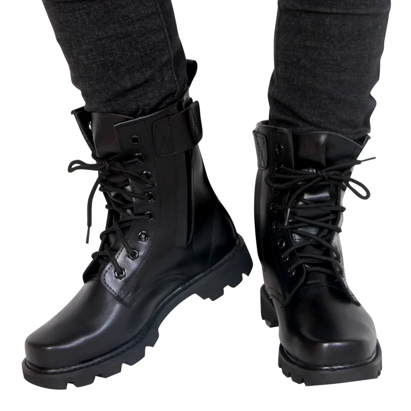 leather boots, Army shoes, Military boots