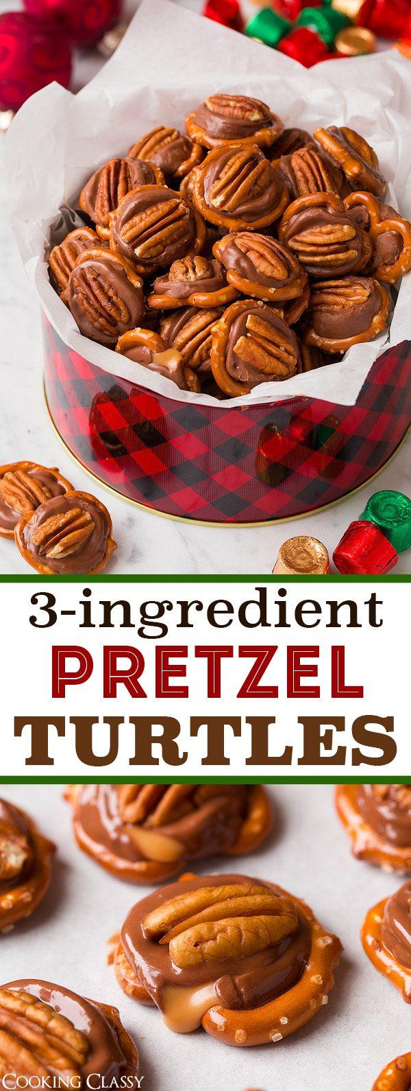 Pretzel Turtles (3 Ingredients) - Cooking Classy