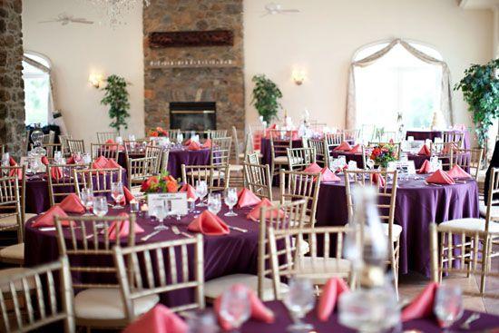 Purple And Coral Wedding Colors Mine Destination Wedding