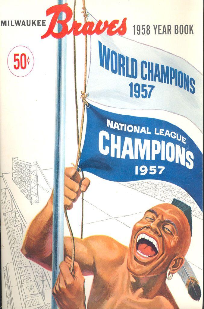 1958 Milwaukee Braves Yearbook Basaeball Braves Vintage Atlanta Braves Braves Milwaukee