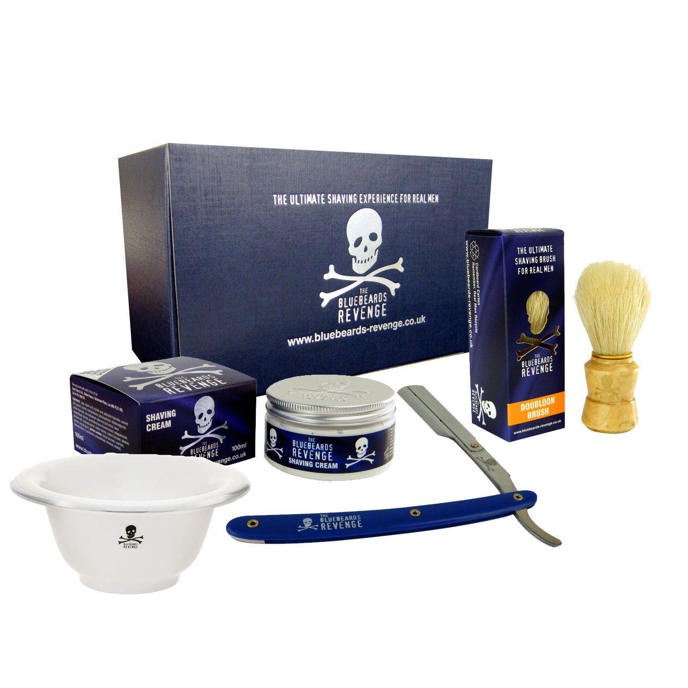 Cut throat razor gift set with ceramic shaving bowl objects i love
