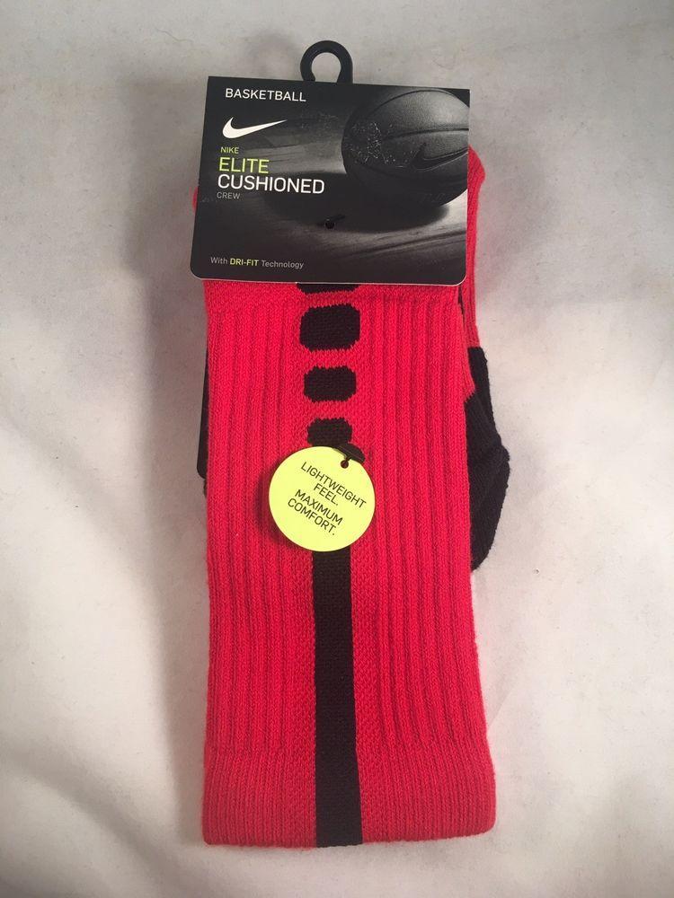 01a155cc3e0e Details about Nike Elite Basketball Socks Kids Shoe Size 3Y-5Y Red ...