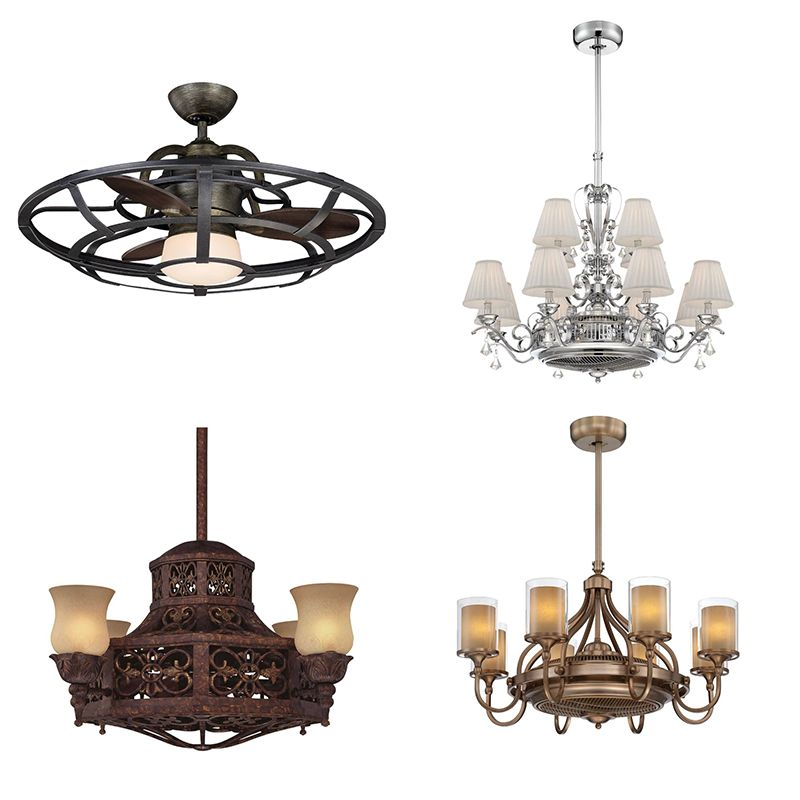Fandeliers combine the cooling properties of a ceiling fan with the wow factor of a chandelier