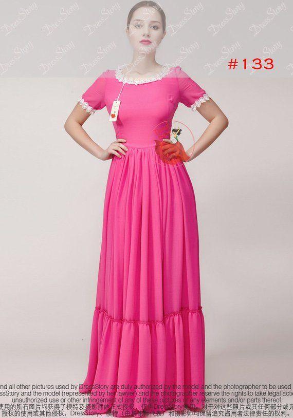 Lavender Chiffon Maxi Dress