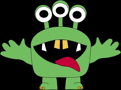 monster clipart for kids three eyed monster clip art image green rh pinterest com monster clipart images monster clip art printable