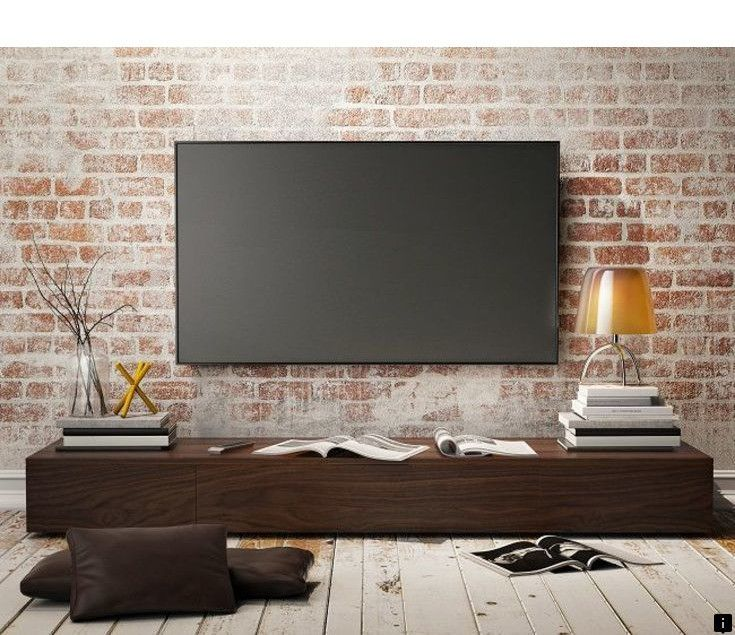 This Is Must See Web Content Head To The Webpage To Learn More About Cheap Tv Stand Click The Link For More Info Brick Wall Tv Wall Mounted Tv Tv Wall