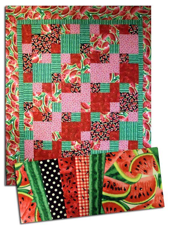 watermelon table runner pattern | ... watermelon quilt kit take 5 ... : watermelon quilt pattern - Adamdwight.com