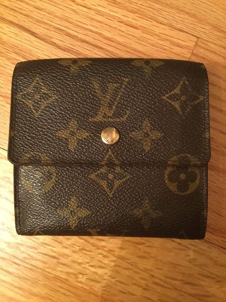 3783a26057da Louis Vuitton Elise Wallet Tri Fold Monogram Coin Purse Leather Vintage
