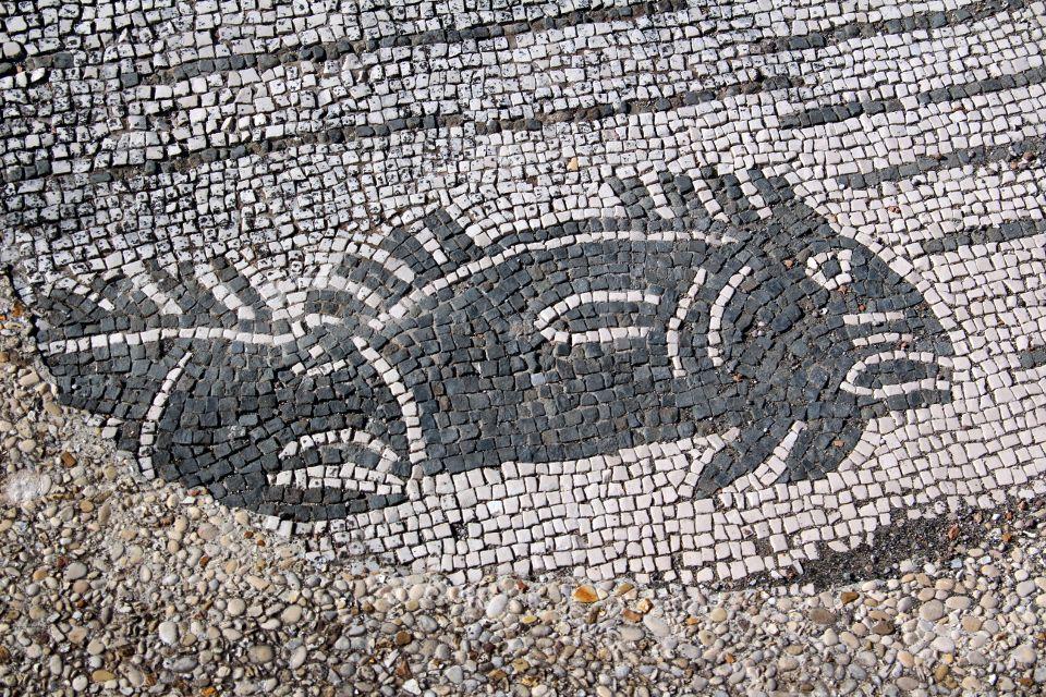 Particolare del mosaico dell'esedra