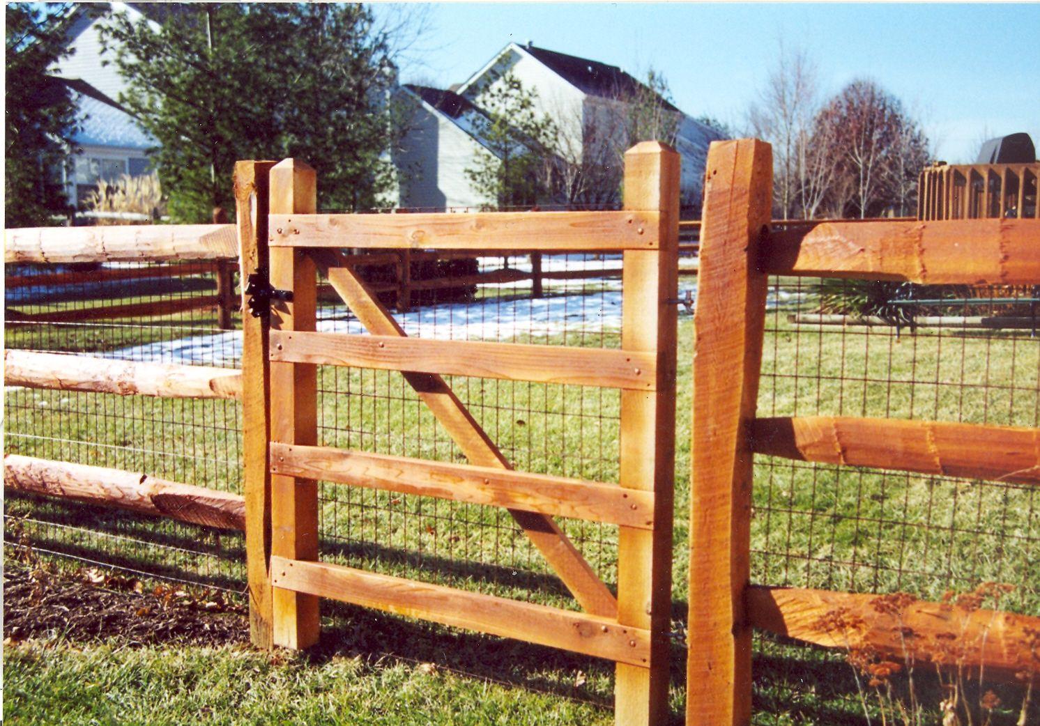 Wood Horse Fence Gates Fence Design Fence Landscaping Modern Fence
