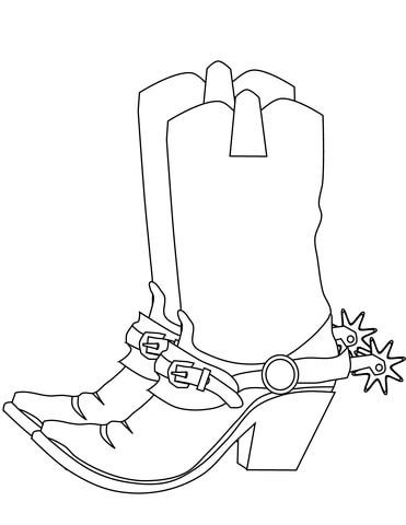 Cowboy Boots Coloring Page Coloring Pages Free Printable