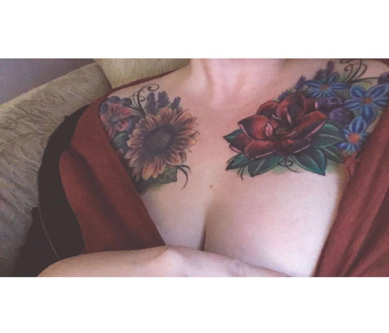 Floral Chest Tattoo Cover Up Chest Tattoos For Women Tattoos For Women Best Tattoos For Women