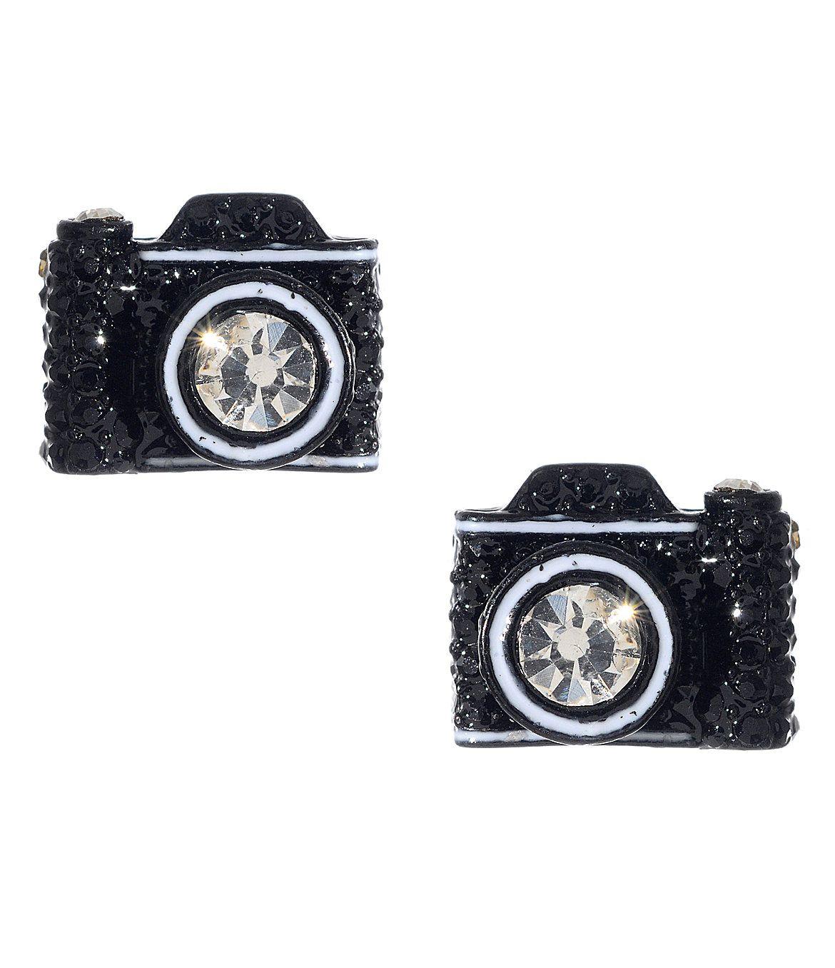 Betsey Johnson Camera Stud Earrings  Dillards