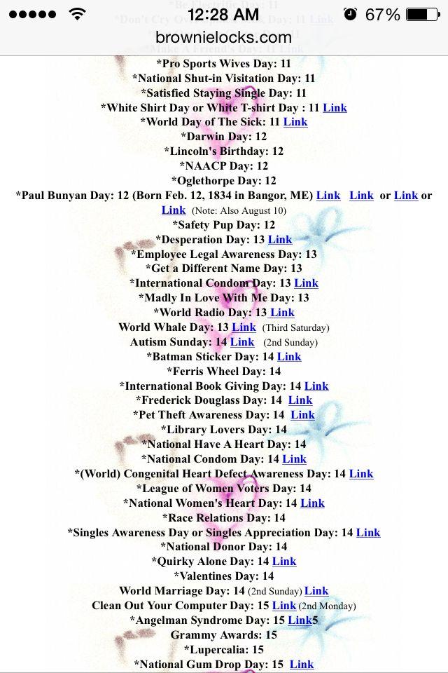 February #Holidailys #Brownielocks Holidailys Pinterest February - loan amortization spreadsheet