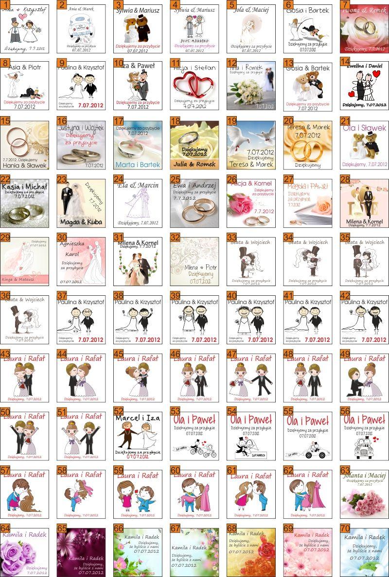 Podziekowania Gosci Slub Foto Magnes Slubne 5x5cm Cards Playing Cards