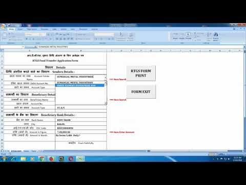 HOW TO FILL DENA BANK RTGS EXCEL SHEET FORM bank Pinterest - printing excel spreadsheets