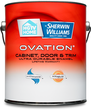 Ovation® High Gloss Interior/Exterior Trim Paint Is A Premium High Gloss  Paint And Primer In One Specially Formulated For Cabinets, Doors And Trim.