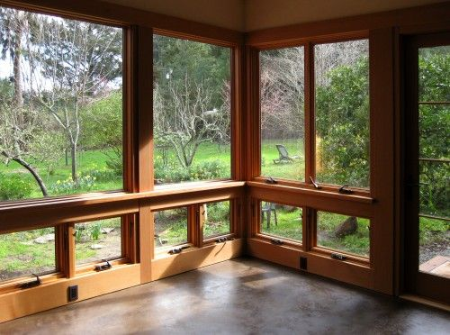 Roll Out Windows Enclosed Patio Sunroom Windows Rustic Sunroom