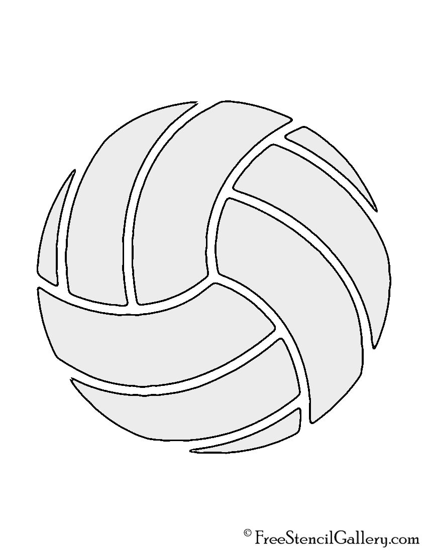 Volleyball Stencil Volleyball Crafts Volleyball Drawing Volleyball
