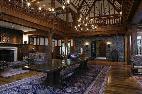 Stately 30 000 square foot english tudor manor home - Tudor style house interior ...