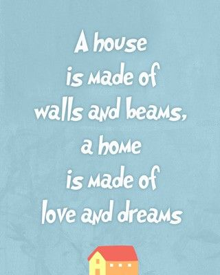New Home Quotes Housewarming Wall Art Print  New House Gift  Quote Wall Art Home