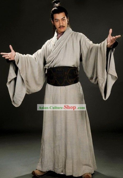 Traditional Chinese Kaftan Garment Clothing for Men ...