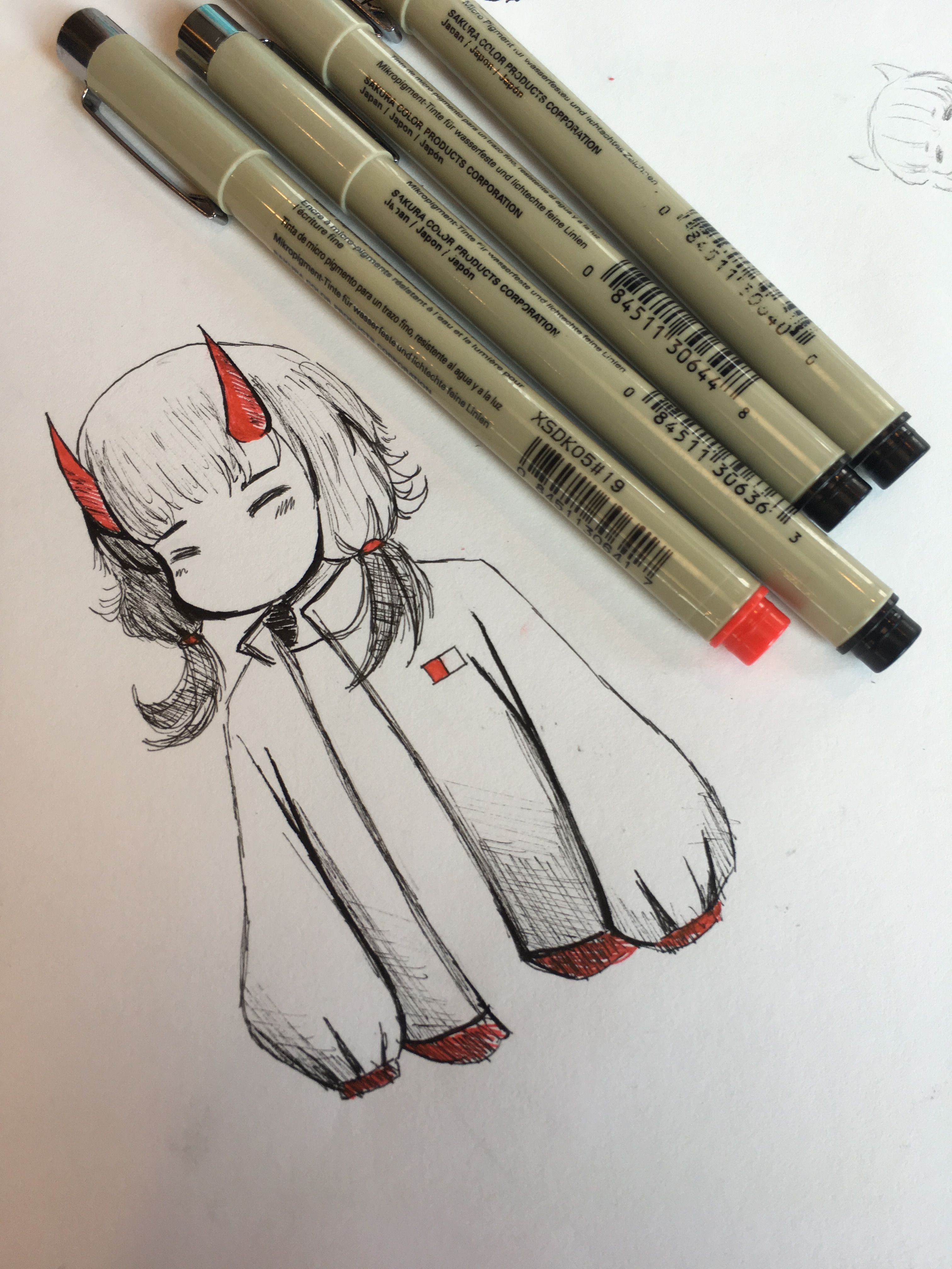 Cute devil drawing awesome drawings art drawings devil fur draw drawings