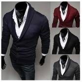 Mens Casual Knitwear V Collar Sweaters 4 Colors