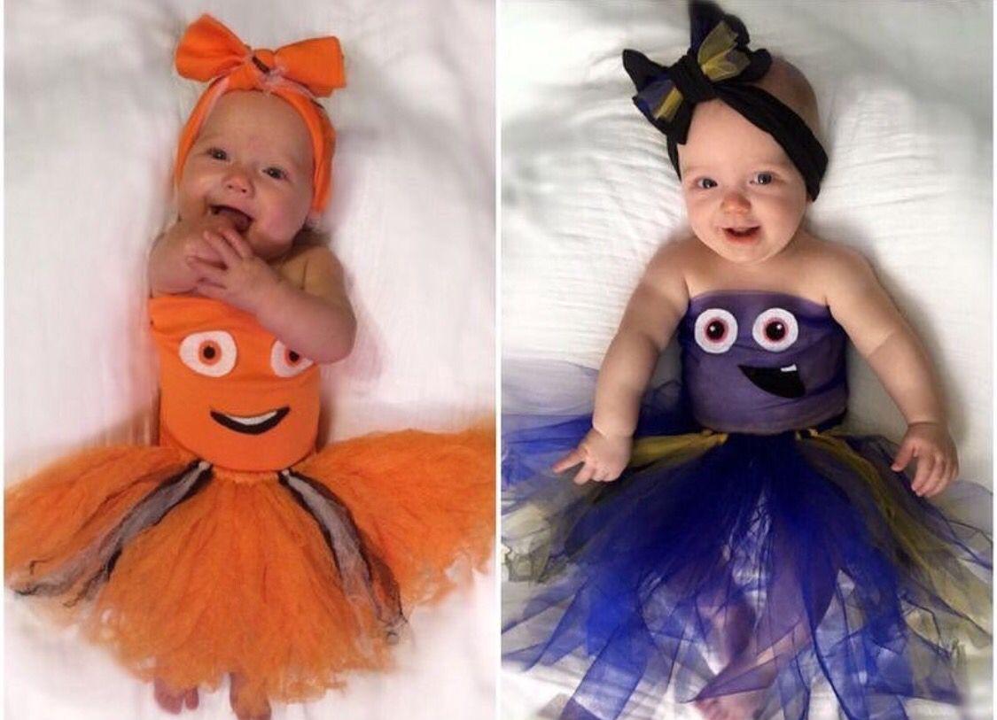 baby disney pixar halloween costume . finding nemo. finding dory