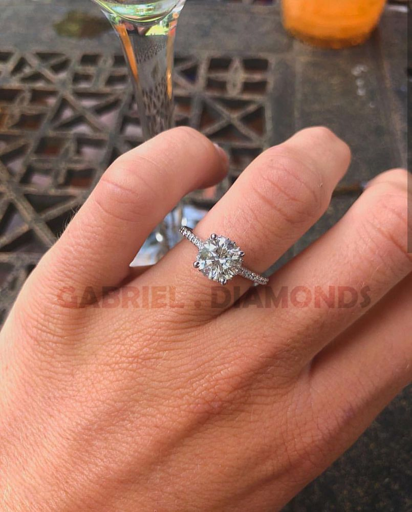451c4f9239d4c 2.5 Ct Round Cut Diamond Solitaire Engagement Wedding Ring 14k White Gold  Over  gabrieldiamond  SolitairewithAccents