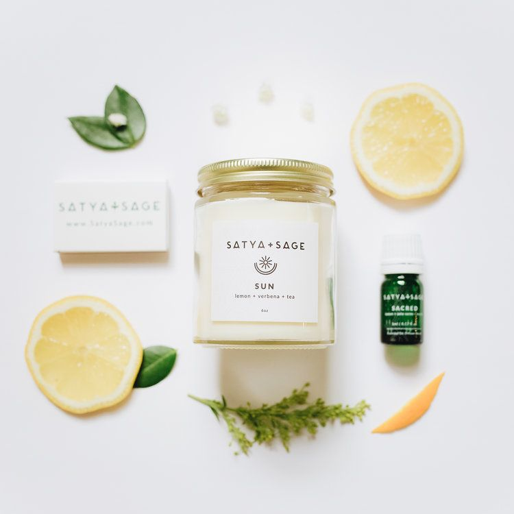 Brand styling, packaging, marketing materials, brand direction & web design  for Satya & Sage, a handma… | Candle packaging design, Handmade candles,  Candle business