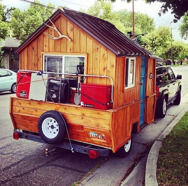 Man Converts Pop Up Camper Into Diy Micro Cabin On Wheels 0009