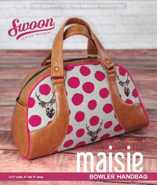Swoon Vintage PatternMaisie Bowling Bowler Purse Paper Handbag L35Rq4Aj