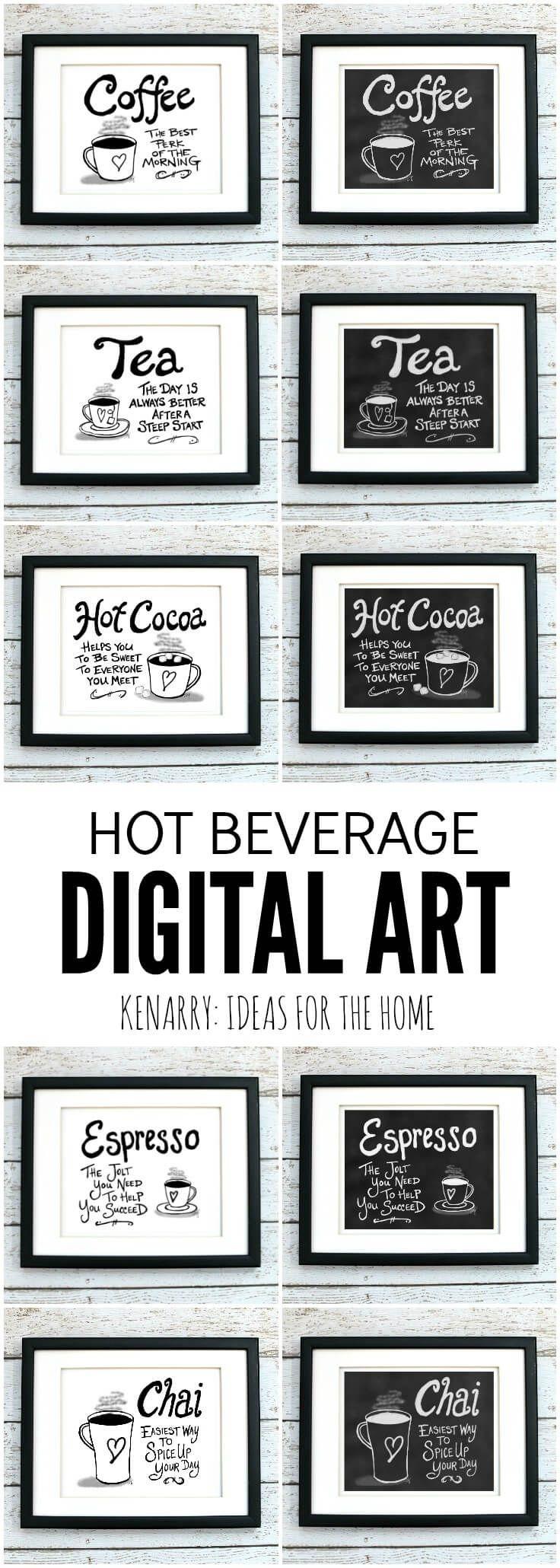 Coffee Wall Art: 10 Inexpensive Digital Kitchen Prints   Pinterest ...